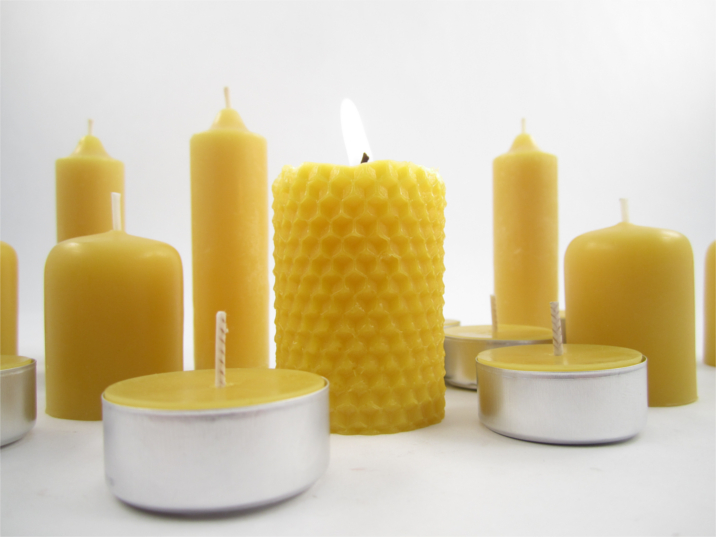 Natural Candle Display