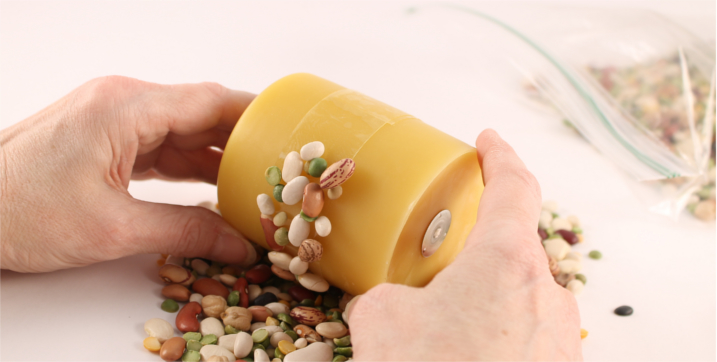 Step Three - Rolling Candle in Beans