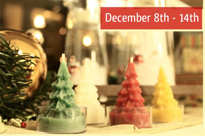 Christmas Tree Beeswax Tea Lights