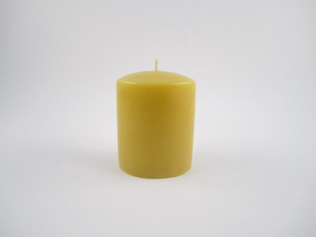 "2 ¾"" x 3"" Beeswax Solid Pillar Candle in Natural"