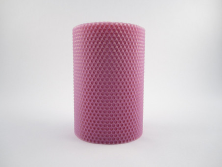 "4"" Beeswax Hand Rolled Pillar Candle"