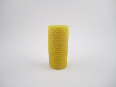 "1 ½"" X 3 ¾"" Beeswax Solid Pillar Candle in Natural"