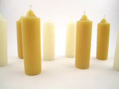 Beeswax Spring Loaded Lantern Votive Candles in Natural and Ivory