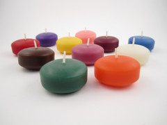 Beeswax Floating Disc Candles in Assorted Colors