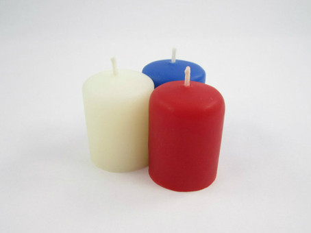 Beeswax Votive Candles in Red, White and Blue