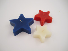 Beeswax Floating Star Candles in Red, White and Blue