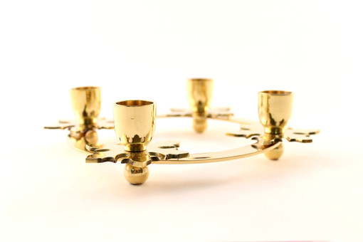 Brass Snowflake Advent Candle Ring
