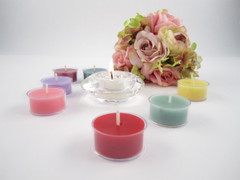 Beeswax Wedding Tea Light Candles in Assorted Colors