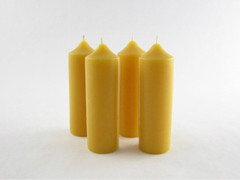 Beeswax Solid Emergency Mini Pillars in Natural