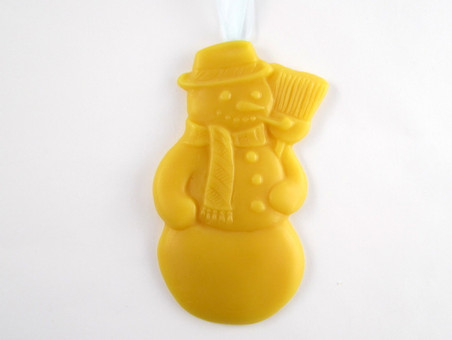 Beeswax Snowman Ornament