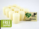12 Beeswax Votive Candles in Ivory
