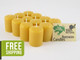 12 Beeswax Votives in Natural
