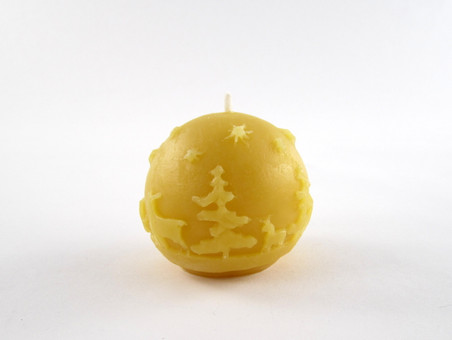 Beeswax Small Winter Votive Candle in Natural
