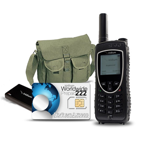 Iridium 9575 Extreme  with Axcess point device and 222 minutes prepaid airtime