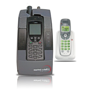 ASE DK075 Docking Station with Iridium 9555 Satellite Phone and Cordless Phone