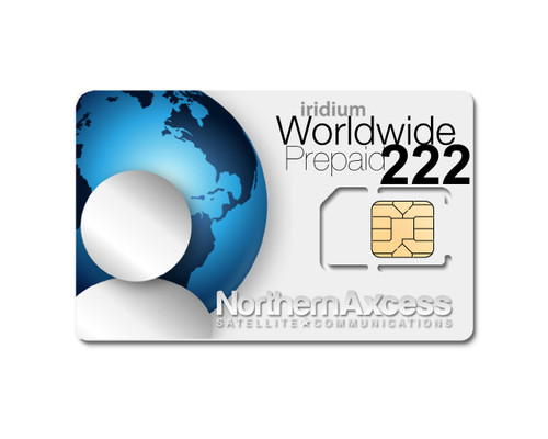 Worldwide Iridium 222 Minutes Prepaid Sim Card