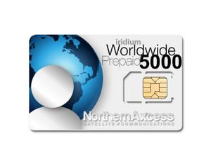 Iridium Worldwide 5000 Minutes Prepaid Sim Card