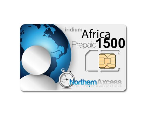 Iridium Africa 1500 Minutes Prepaid  Sim Card