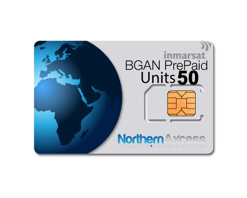 Inmarsat BGAN 50 Units Prepaid Airtime Plan