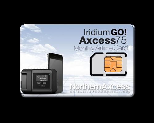 Iridium GO! Axcess 75 Monthly Airtime Plan