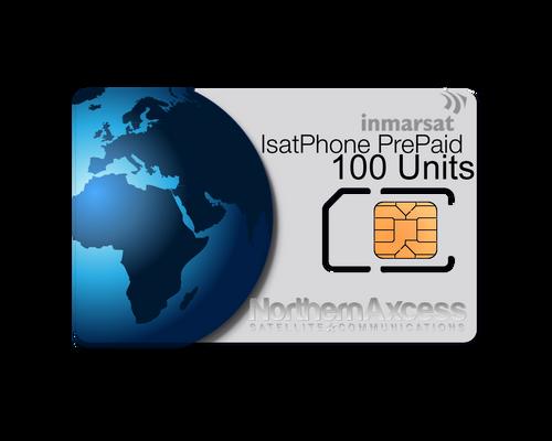 Inmarsat IsatPhone Prepaid 100 Units Sim Card-180 days Validity