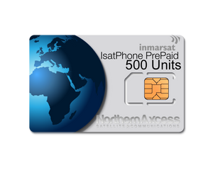 Inmarsat IsatPhone Prepaid 500 Units Sim Card-365 days Validity