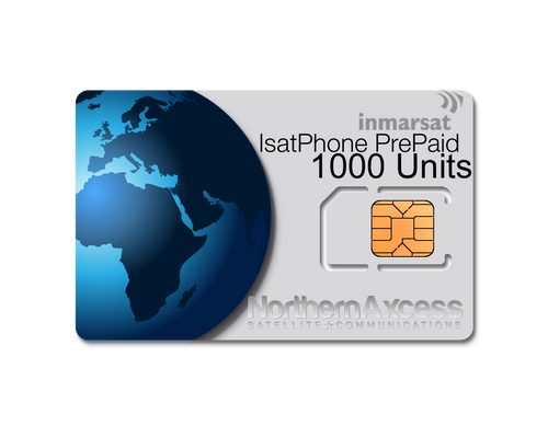 Inmarsat IsatPhone Prepaid 1000 Units Sim Card-365 days Validity