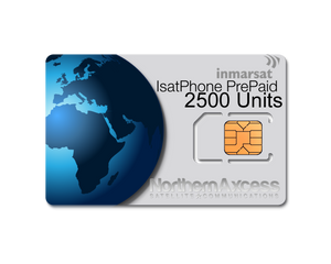 Inmarsat IsatPhone Prepaid 2500 Units Sim Card-365 days Validity