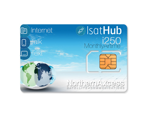 isathub 250 megabyte satellite internet monthly airtime service plan from inmarsat and NorthernAxcess