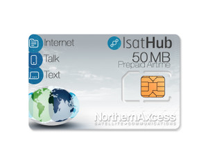 IsatHub Prepaid 50 MB Data/Voice Airtime Sim Card