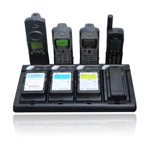 satstation four bay external battery charger for iridium satellite phones