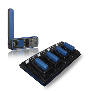 four bay satstation external battery charger for isatphone pro