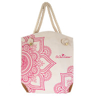 Stylish 100% Organic Cotton Pink Mandala Bag