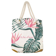 Stylish 100% Organic Cotton Birds of Paradise Bag
