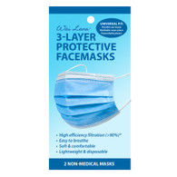 3-Layer Protective Facemasks - 2 Pack