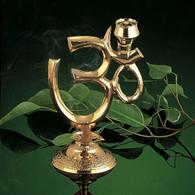 OM Brass Incense Burner
