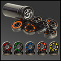 Silicon Nitride Si3N4 black ceramic bearings in metal tube. Choice of 5 assorted race cage colours.