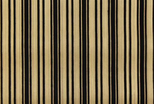 1970s Vintage Wallpaper Black and Gold Flocked Stripe