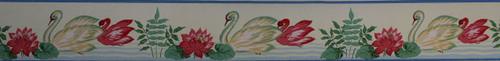 Eagle Vintage Wallpaper Border Swans