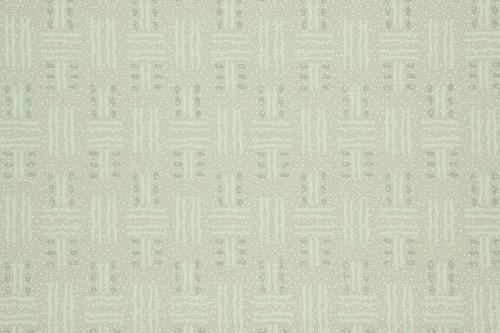1940s Vintage Wallpaper Green Basket Weave