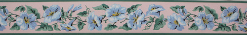 Imperial Vintage Wallpaper Border Morning Glory Blue