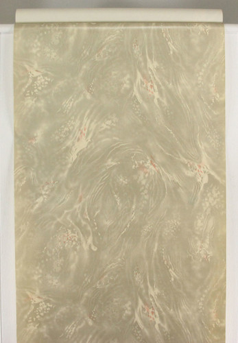 1930s Vintage Wallpaper Faux Marble Gray