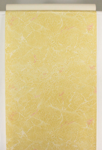 1930s Vintage Wallpaper Faux Marble Yellow
