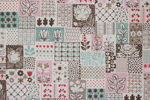 1950s Vintage Wallpaper Patchwork Quilt