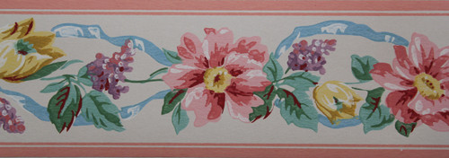Trimz Vintage Wallpaper Border Bouquet