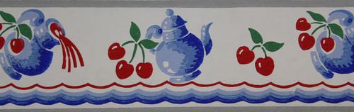 Trimz Vintage Wallpaper Border Cherry Cider