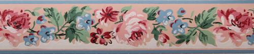 Imperial Vintage Wallpaper Border Rose Pink