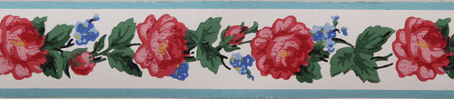 Kem-Tone Vintage Wallpaper Border Rose