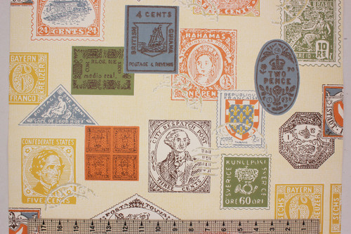 1970s Vintage Wallpaper Stamp Collection