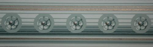 Trimz Vintage Wallpaper Border Rosette Green